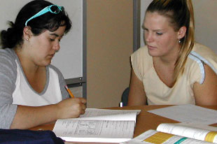 a picture of a tutor helping a student in tutoring session